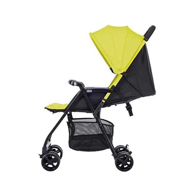 Chicco Buggy Ohlala, Citrus  Can even be lifted with one finger. pure comfort and style. The backrest is adjustable to the flat reclining position. adjustable footrest. With continuous slide for a smooth ride and sliding with only 1 hand. 4