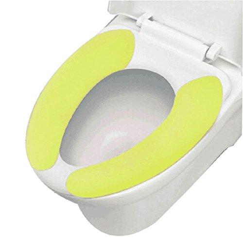 2 Paare gesunde Sticky Waschbar und mobile Toilettensitzabdeckungen, Grün