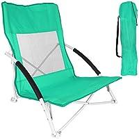 Preisvergleich für Unbekannt Angelstuhl - Gartenstuhl - Strandstuhl - Klappstuhl - Faltstuhl mit Farbauswahl (Grün)