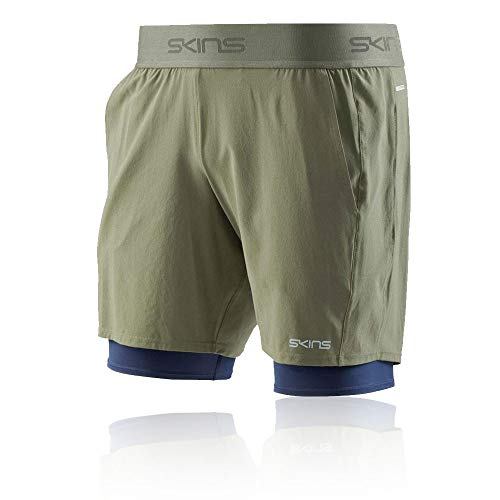 Skins DNAmic Primary Superpose 2in1 Sackartige Shorts - Large