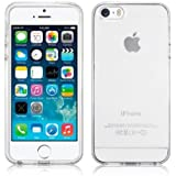 SDTEK iPhone 5 / 5s / SE Coque Housse Silicone Etui Case Cover Transparent Crystal Clair Soft Gel TPU