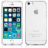 SDTEK iPhone 5 / 5s / SE Case Transparent Soft Gel TPU Clear Silicone Cover Bumper