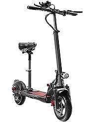 MYYDD Scooter eléctrico para Adultos, Mini portátil Plegable con Asiento Plegable de 10 Pulgadas de