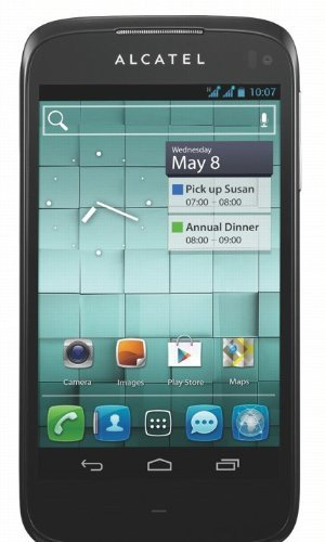 Alcatel One Touch 997D Smartphone (10,9 cm (4,3 Zoll) Touchscreen, 8 Megapixel Kamera, Dual-SIM, Android 4.0) Ardesia schwarz