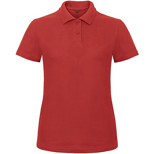 B&C Collection Ladies Id.001 Short Sleeve Polo Shirt Wine red