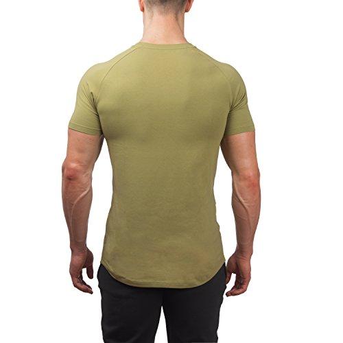 ... Herren Fitness T-Shirt | Climaqx Elasth Pro | Für Fitness und  Bodybuilding Khaki- ...