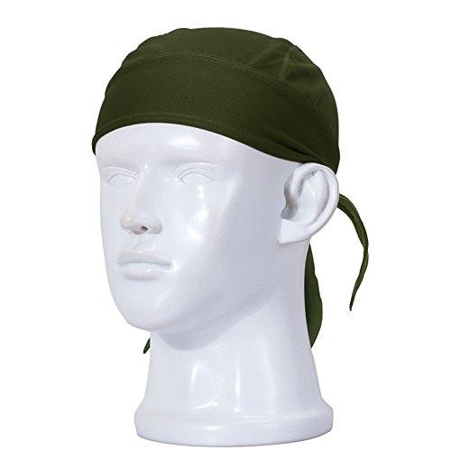 IKuaFly Kopftuch Bandana Pirat Binden Schnelltrocknend One Piece UV Schutz Elastisch Haarband Cap - Outdoor Running Fahrrad Cook Kopfbedeckung (khaki)