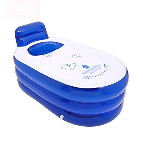 Baignoire Gonflable Bleu Baignoire Adulte Baignoire Pliante pour Enfants Plus Grande Airbag indépendant Doux et Confortable Fermeture à glissière Chaude Baignoires et sièges de Bain