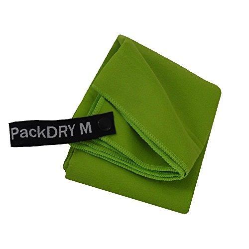 Outdoorer PackDRY Reisehandtuch, schnelltrocknend, ultraleicht, kleines Packmaß - das Mikrofaser Handtuch (M) (Mikrofaser-rucksack Praktische)