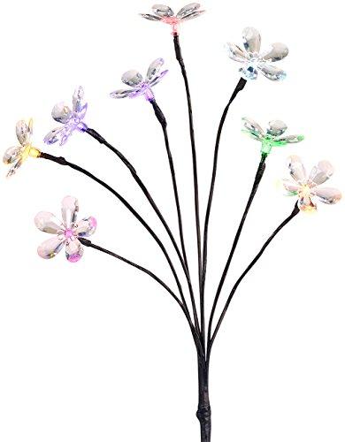 Lunartec Ostern: Solar-LED-Lichterstrauch mit 8 Blüten und Erdspieß, multicolor, 50 cm (Solar Lichterbaum) (Regen Typ Duschkopf)