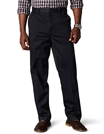 Dockers Men's Signature Khaki D3 Classic Fit Flat Front Pant,Navy,36x34