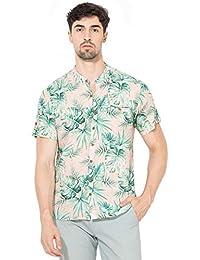 Vajor Men's Multicolored Printed Rayon Shirt