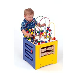 Quality Wooden Activity Cube (A1499) by Alphabet Educational Supplies
