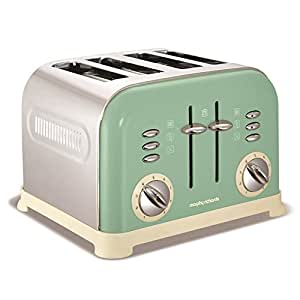 Morphy Richards 4 tranches Accents Sage Grille-pain, 1800 Watt, vert