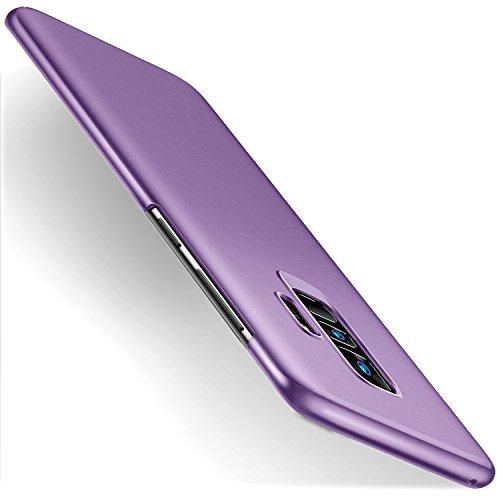 humixx Samsung Galaxy S9 Plus S9+ Hülle, Ultra Dünn Schlank Matt Handyhülle Stoßfest Anti-Fingerabdruck Hardcase Bumper Cover Schale Schutzhülle für Samsung Galaxy S9 Plus (Lila)