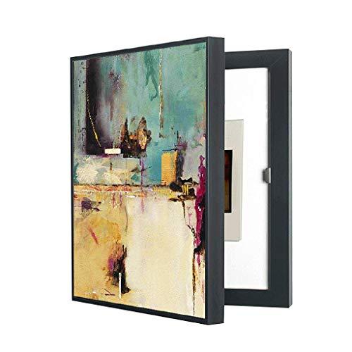 LITING Caja de medidor eléctrico Pintura Decorativa Caja de Cerradura eléctrica Caja de oclusión Decorativa Hogar Vertical Empuje y Tire Perforación Libre Puede Bloquear