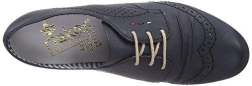 Rieker 51937 Damen Derby Schnürhalbschuhe Blau (atlantis / 14)