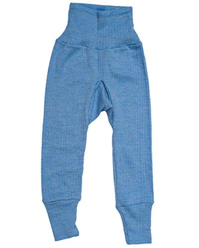Cosilana, Baby Hose mit Nabelbund, 45% KBA Baumwolle, 35% kbT Wolle, 20% Seide (62/68, Blau Melange)