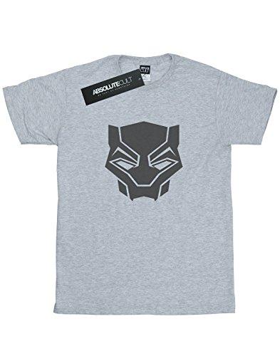 Absolute Cult Marvel Femme Black Panther Black On Black Petit Ami Fit T-Shirt Sport Gris