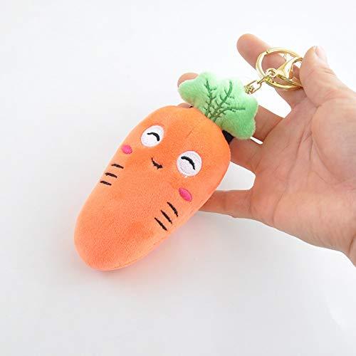 pittospwer Weichem Plüsch Karottenform Schlüsselbund Schlüsselbund Tasche hängen Anhänger Dekor Spielzeug