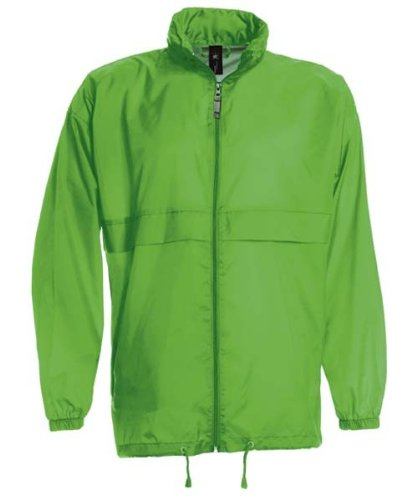 Sirocco Windbreaker Jacke, unisex, Farbe:Real Green;Größe:M M,Real Green (Nylon Windbreaker Full Zip)