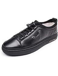 GLSHI Hombres Oxford Lace-Up Flats Zapatos 2017 Nuevos Sencilla Zapatos Breathable Junta Zapatos Zapatos De Moda Zapatos De Cuero Suave Zapatos Diarios Zapatos Casual ( Color : Black , Size : 40 )