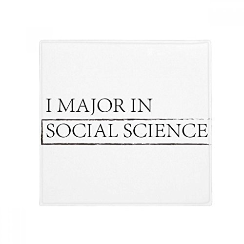 DIYthinker Zitat Ich Major in Social Science Anti-Rutsch Boden Pet Matte quadratisch Badezimmer Wohnzimmer Küche Tür 60/50cm Geschenk, Gesponnenes Polyester, mehrfarbig, 60X60cm