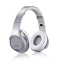 7BEEZ HANG MH1 Bluetooth Stereo Headset/Speaker 2 in 1 Over Ear Headset (SILVER)