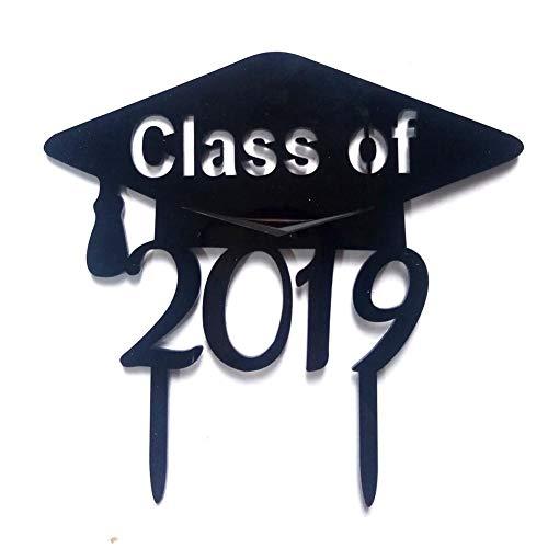 feiledi Trade -Graduation Hat Black Acryl Cake Topper-