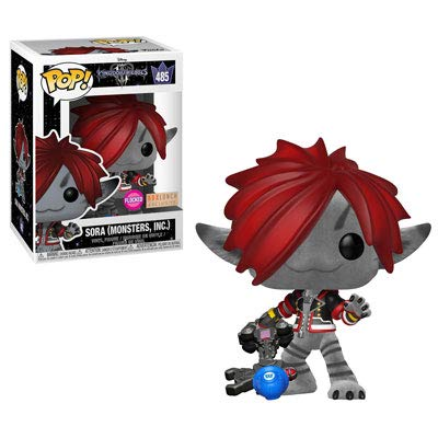 Funko POP! Disney: Kingdom Hearts - Sora [Monster Inc. - Flocked!] #485 - BoxLunch Exclusive! - with Free POP! Protector! (Exclusif Inc)