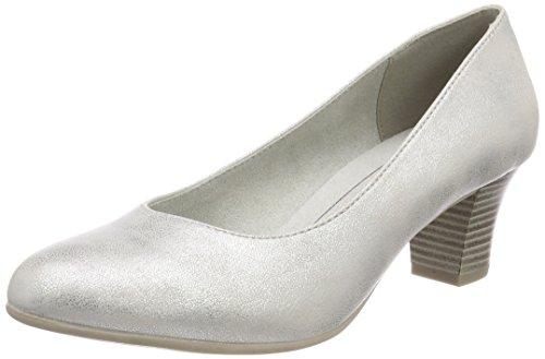 Softline Damen 22463 Pumps, Silber (White/Silver), 39 EU