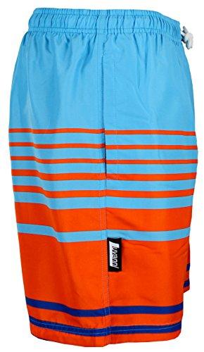 LUVANNI Herren Badeshorts Beachshorts Boardshorts Badehose gestreift Blau