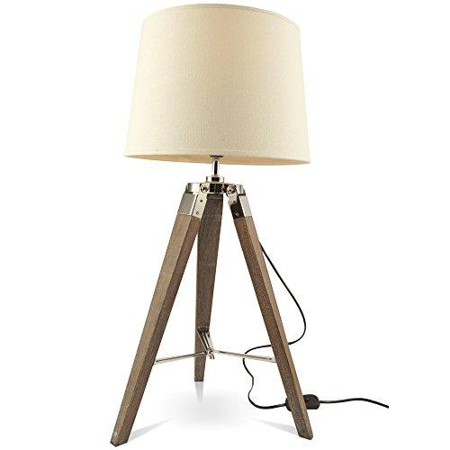 mojoliving MOJO Tischlampe Tripod Lampe Dreifuss Urban Cool Design Höhe ca. 65cm mq-l36