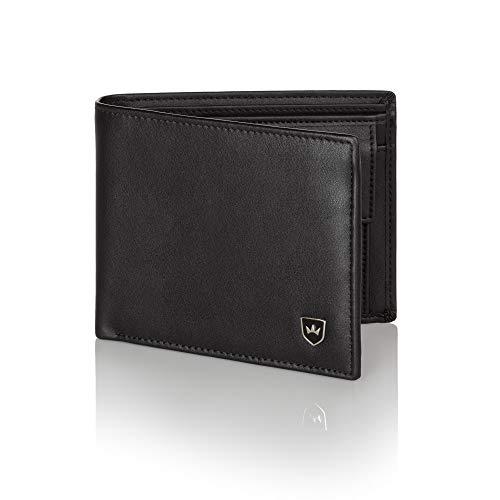 7cce4ab4c4226 Kronenschein® Premium Geldbörse Herren Portemonnaie aus Nappa Leder  Geldbeutel Männer Brieftasche RFID Schutz Wallet Portmonee