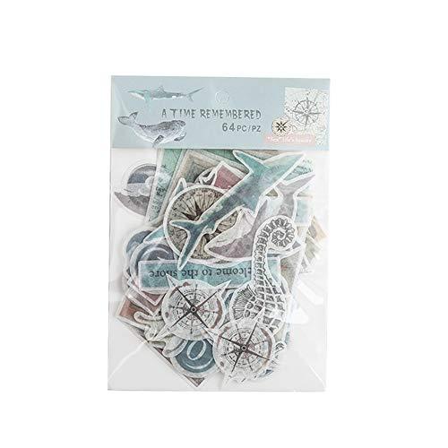 Qinlee Vintage Muster Notizbuch Aufkleber Fotoalbum Sticker DIY Handbuch Tagebuch Dekoration Sticker -