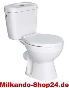 design wc toilette stand wc kombination im komplett set keramik sp lkasten inkl wc sitz amazon. Black Bedroom Furniture Sets. Home Design Ideas