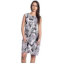 Abbino J493 Vestidos para Mujeres - Hecho en ITALIA - Colores Variados - Entretiempo Primavera Verano