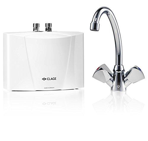 CLAGE M3/SNM Klein-Durchlauferhitzer drucklos mit Waschtischarmatur