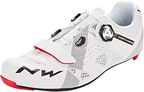 Northwave Storm Carbon Rennrad Fahrrad Schuhe weiß/schwarz 2019: Größe: 43 (Northwave Carbon)