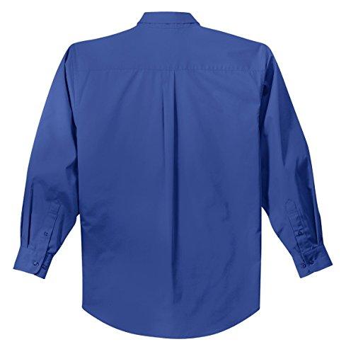kectelly Port Authority–Camicia a maniche lunghe, di facile manutenzione Royal/Classic Navy