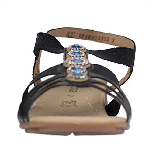 REMONTE - Damen Sandalen - Blau Schuhe in Übergrößen Blau