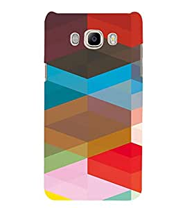 PrintVisa Geometrical Pattern 3D Hard Polycarbonate Designer Back Case Cover for Samsung Galaxy J7 2016 Edition