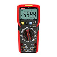 BOTTERRUN UNI-T UT89XD Digital Multimeter, TRMS 6000 Counts Volt Meter AC/DC Amp Ohm Voltage Current Tester LED Measure with Resistance Continuity Capacitance Frequency and Diode Test