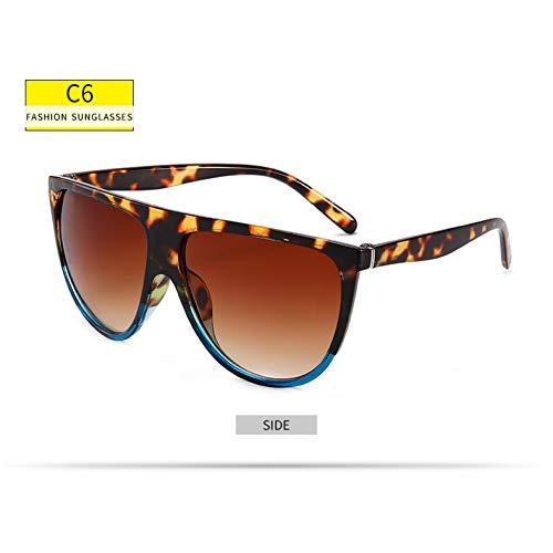 GJYANJING Sonnenbrille Übergroße Quadratische Sonnenbrille Frauen Big One Objektiv Mans Schwarze Sonnenbrille Weiblich Uv400 Transparent Rahmen