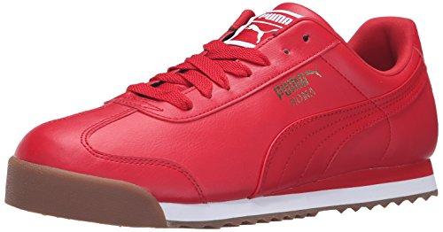 Puma Roma Basic, Sneaker uomo White-teamregalRed Acerola / Puma Bianco