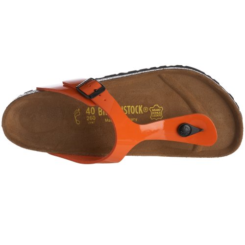 Birkenstock Gizeh - Tongs mixte adulte Orange Verni