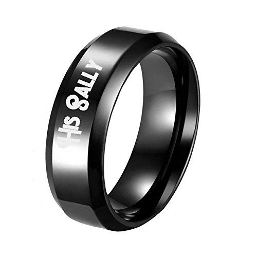 Homeofying Herren-Ring Sally Her Jack, Titanstahl, Romantisches Geschenk (Jack Und Sally Ringe)