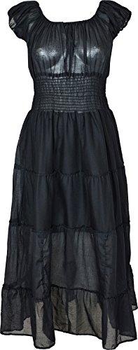 Nightingale Collection Damen Kleid Schwarz - Schwarz