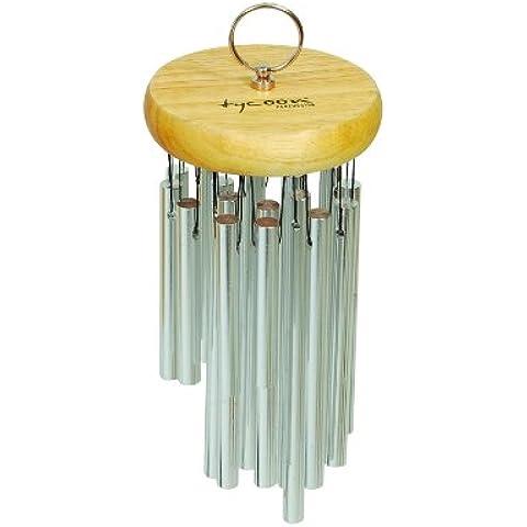 Tycoon Percussion 12 cromato Chimes-Sonaglio a vento in legno di quercia thailandese
