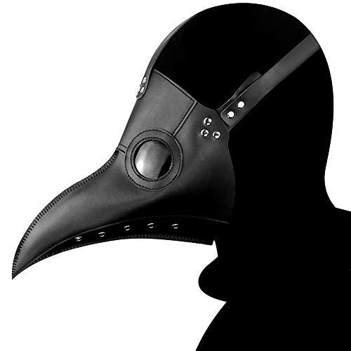 XC Pest Schnabel Doktor Maske, Halloween Cosplay Prom Festival Party-Accessoires, 2 Farben Verfügbar,Black